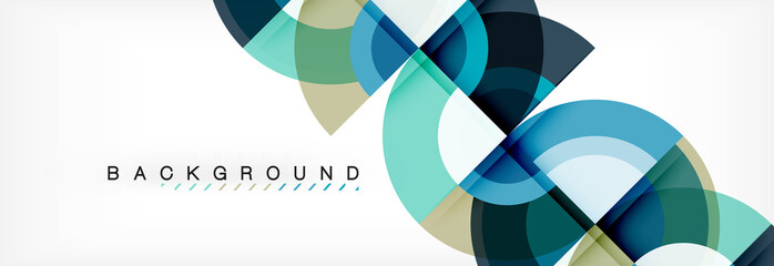 Vector circular geometric abstract background Fototapete