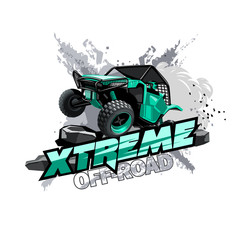 Off-Road ATV Buggy Logo, Extreme race.
