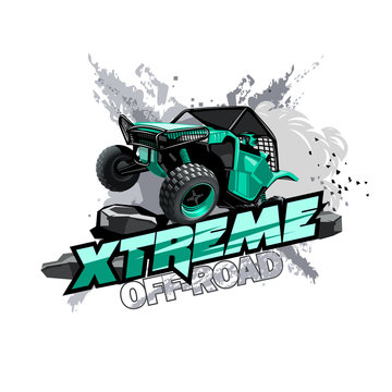 Off-Road ATV Buggy Logo, Extreme race.
