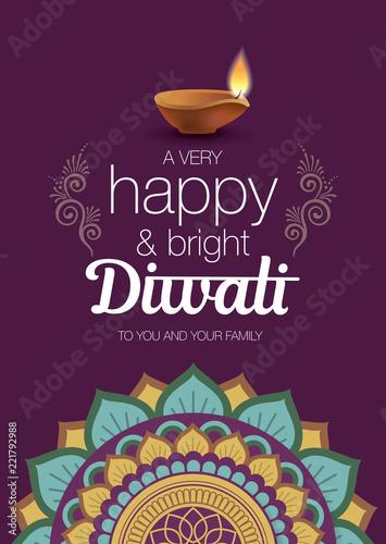 Diwali festival greeting card with rangoli pattern and diya lamp diwali festival greeting card with rangoli pattern and diya lamp m4hsunfo