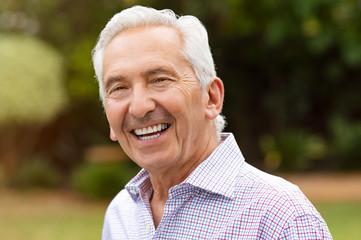 Smiling retired senior man