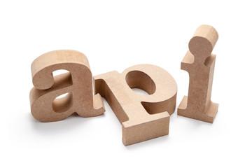 API Wood Letters