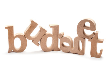 BUDGET Wood Letters