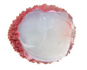 fruit lychee on white background