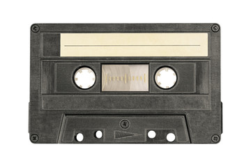 Retro black audio cassette tape