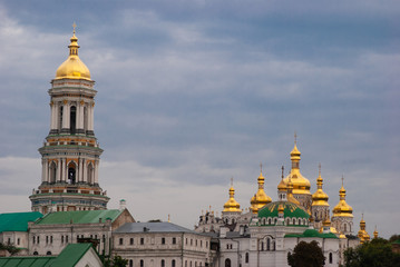 Foto op Aluminium Kiev church, orthodox church, crosses, domes, architecture