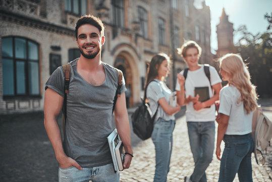 Students near university