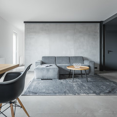 Gray home interior