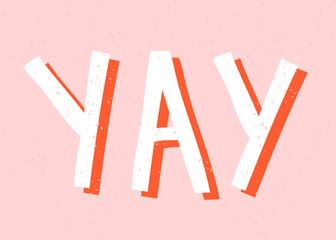 Yay Retro Typographic Design