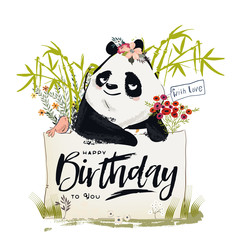 Little Birthday panda