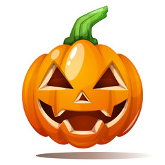 Pumpkin illustration. Horror, fear happy halloween Vector eps 10