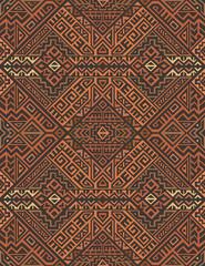 Creative Ethnic Style Vector Seamless Pattern