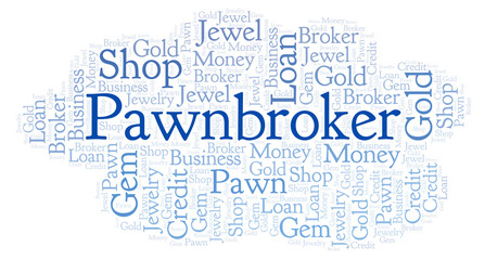 Pawnbroker word cloud.