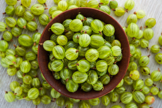 green fresh gooseberry berry