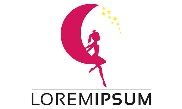 Princess And Stars Moon Logo Design
