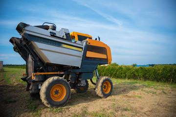 grape harvester machine
