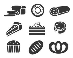 Bakery products icon set