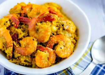 Indian Style Shrimp Curry with Poppy Seed