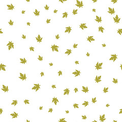 Maple leaf green pattern seamless