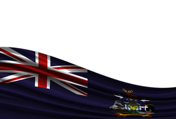 flag of South Georgia and the South Sandwich Islands isolated on white background