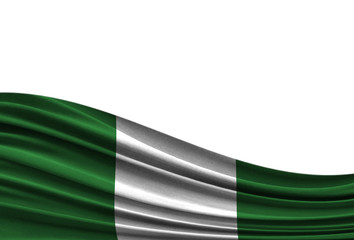 flag of Nigeria isolated on white background