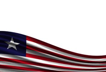 flag of Liberia isolated on white background