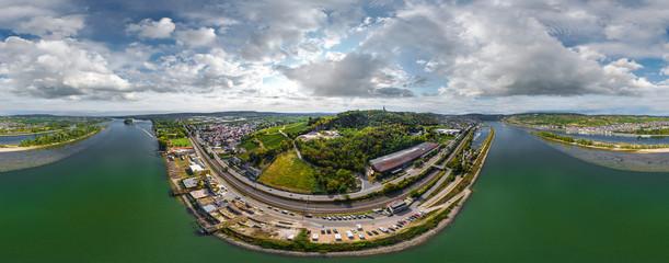 Luftbild Ingelheim und Bingen am Rhein 360°