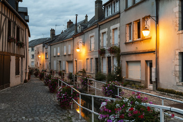 Evening in Beaugency France