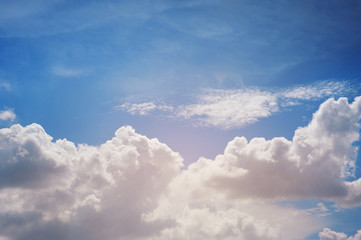 beautyful ranges of large clouds against with blue sky
