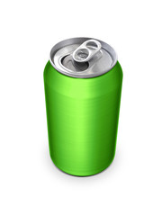 Aluminum cans on white background For design