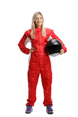 Poster Motorise Female racer