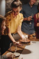 Friends Having Birthday Pary