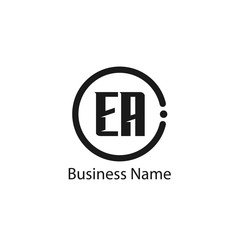 Initial Letter EA Logo Template Design