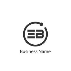 Initial Letter EB Logo Template Design
