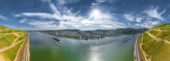 Luftbild Blick auf Bingen am Rhein