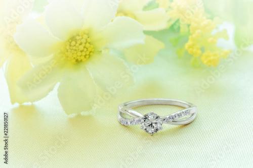 Wedding Rings Engagement Rings Wedding Rings On Background Stock