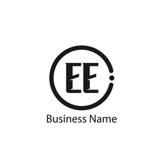 Initial Letter EE Logo Template Design