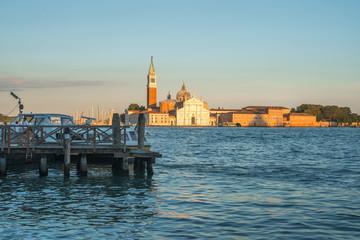 View of San Giorgio Maggiore church in Venice, Italy, the grand canal