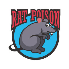 rat killer poison logo. vector illustration