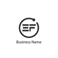 Initial Letter EF Logo Template Design