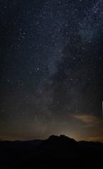 Galaxie mit Milchstrasse