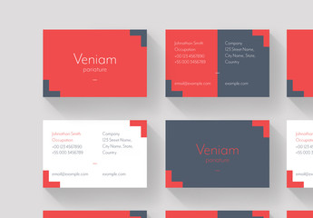 Red and Gray Business Card Layout