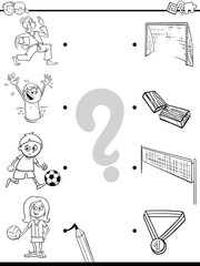 match children and sport activities color book