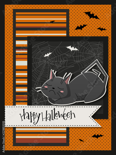 vector illustration with design template for halloween event banner