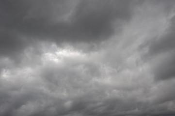 небо с темными облаками