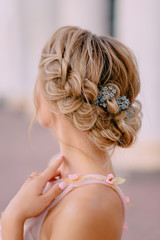 bride hair style close-up