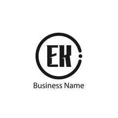 Initial Letter EK Logo Template Design