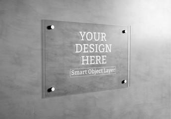 Plate Glass Signage Mockup