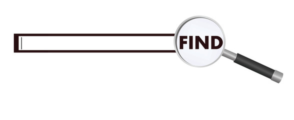 Find tab. vector illustration