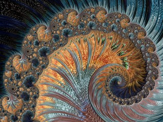 Fractal a never-ending pattern. Abstract Computer generated Fractal design. Fractals are infinitely complex patterns that are self-similar across different scales. Great for cell phone wall paper.